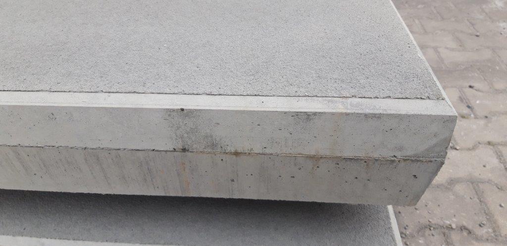 betonplaat met richtingloze structuur
